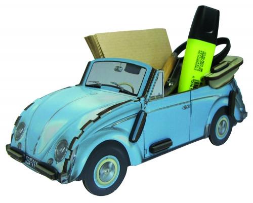 Zettelbox VW Käfer Cabriolet - blau