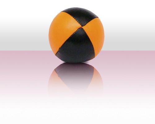 Jonglierball Beanbag 130g - orange mit schwarz