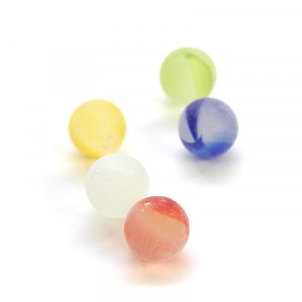 Glasmurmel 14-17mm - frosted rainbow