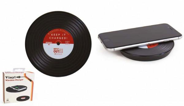 Induktions Ladegerät im Vinyl Schallplatten Style