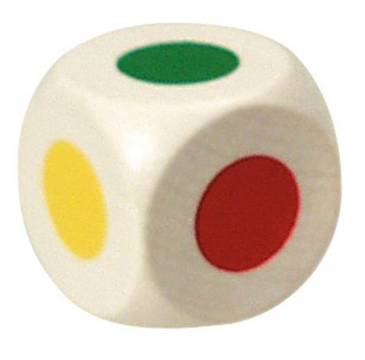 Farbwürfel 25mm - Würfel mit Farbpunkten