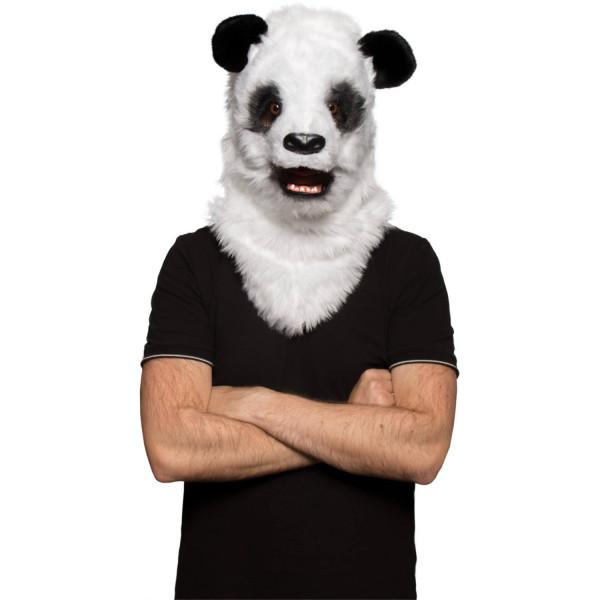 Panda Maske mit beweglichem Mund