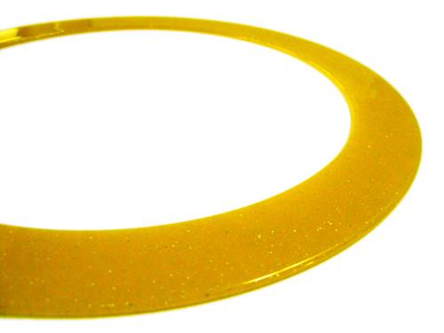 Glitterring - der Glitzerige - gelb