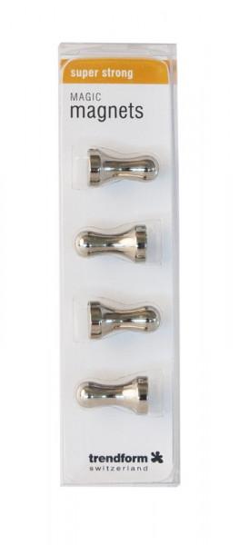 Kühlschrank Magnete Spielfiguren HULK, 4er Set silberfarbig