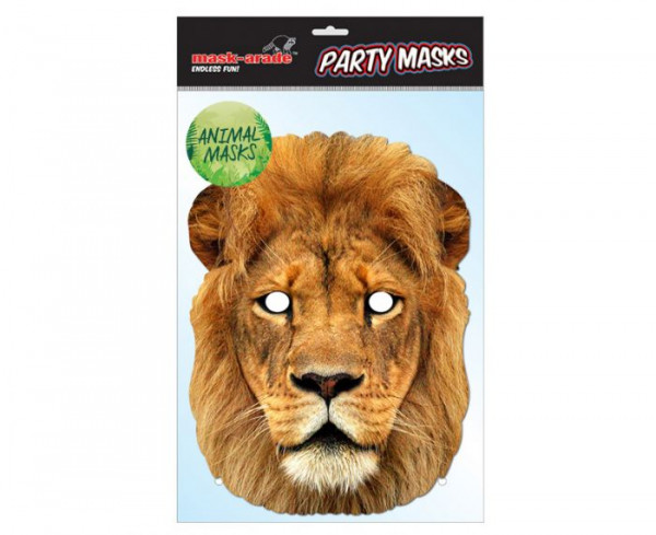 Löwe Maske aus Karton