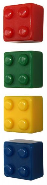 Kühlschrank Magnete Legosteine BRICK, 4er Set assortiert