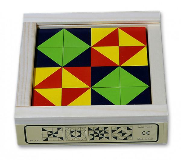 Mosaikwürfel Spiel - das Klötzlimosaik 16-teilig