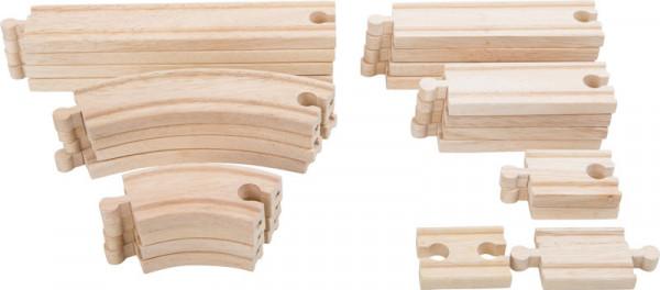 Holz Eisenbahn Schienen Erweiterung, 24er-Set