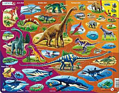 Dinosaurier - Rahmenpuzzle