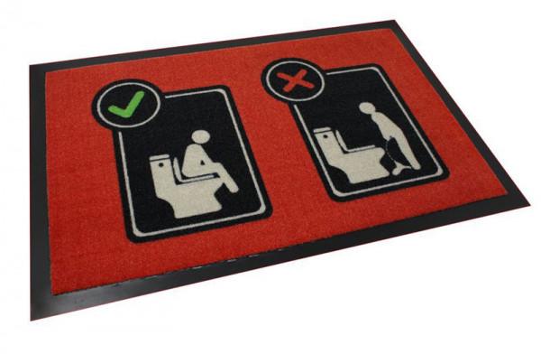 Fussmatte Toiletten - Sitzen