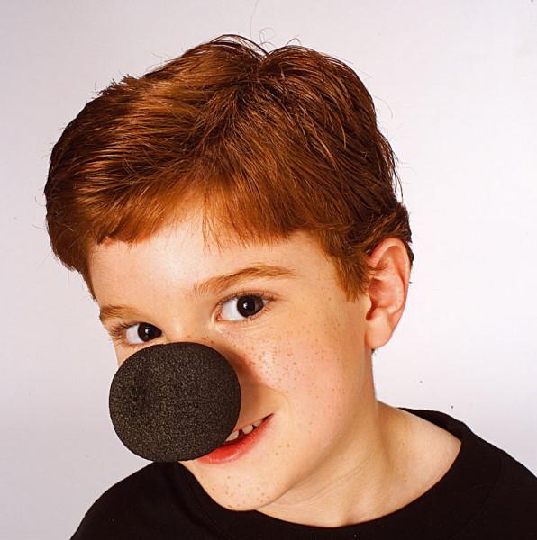 Schwarze Clownnase Schaumstoff