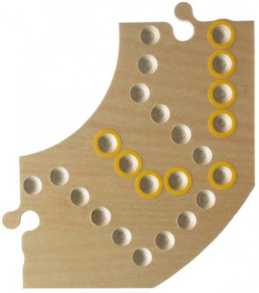 Brändi Dog - einzelnes Segment - gelb