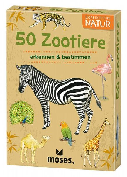50 Tiere im Zoo - Wissenskarten
