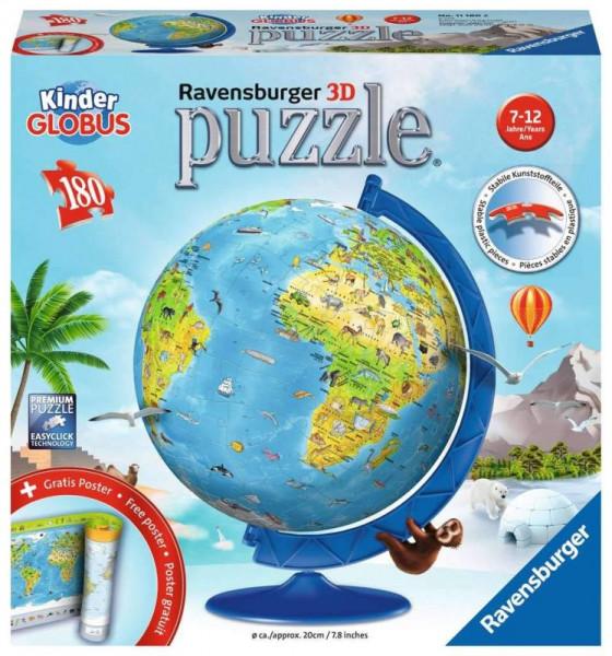 Kinder-Globus 3D Puzzle - 180 Teile