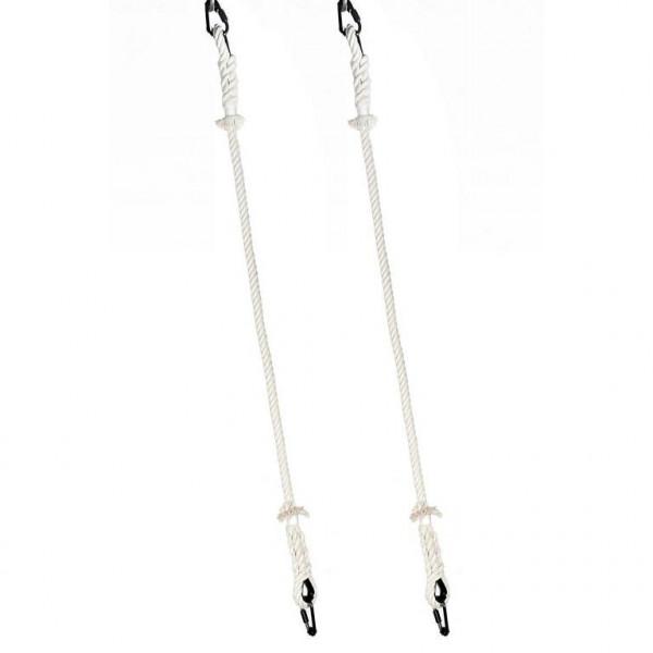 Seile für Artistik Ring - paar 150cm - weiss