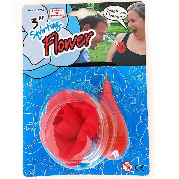 Spritzblume zum Anstecken - rot
