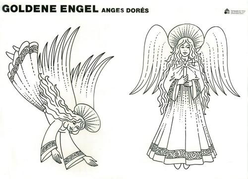 Modellbogen - goldener Engel