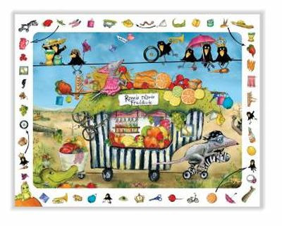 Ronnis rollende Fruchtbude - Kinderpuzzle
