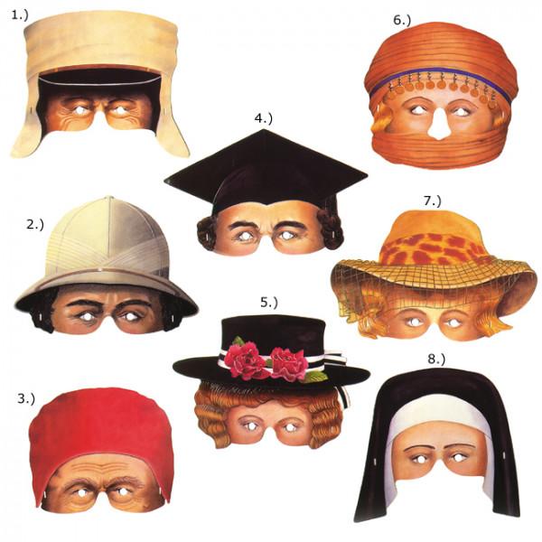 Papier Maske - Party Pairs - Preis für 1Stk