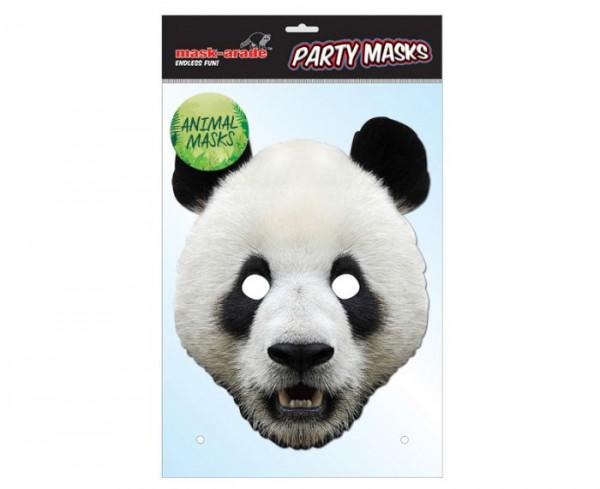 Panda Maske aus Karton