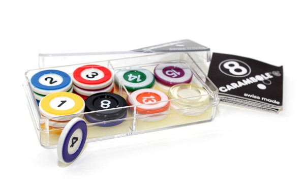 Carambole Zahlensteine Set 5mm