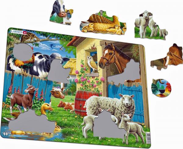 Bauernhoftiere - Rahmenpuzzle