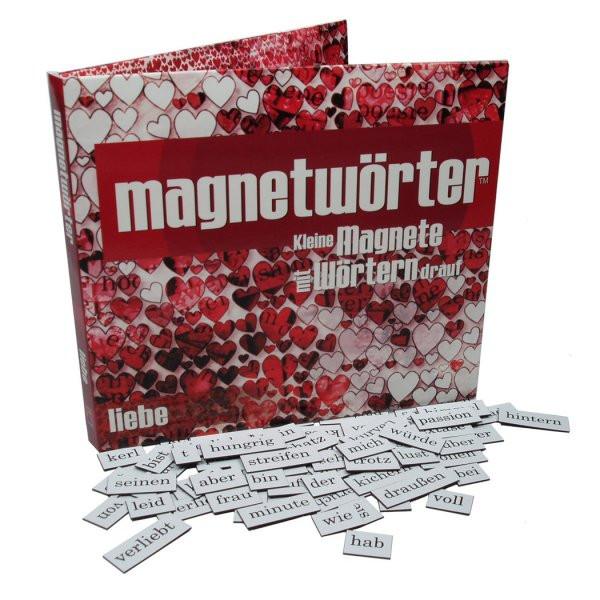 Magnetwörter für den Kühlschrank - Liebe