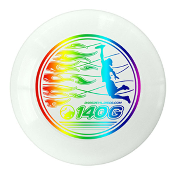 Frisbee Ultimate 140g - Light Weiss Regenbogen