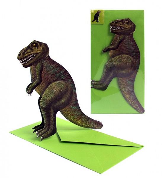 3D Faltkarte - Dinosaurier