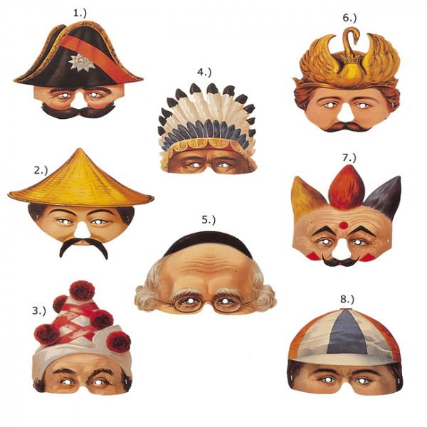 Karnevalsmaske aus Papier - Leksaks Neu - Preis für 1Stk