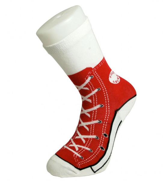 Sneaker Socken rot