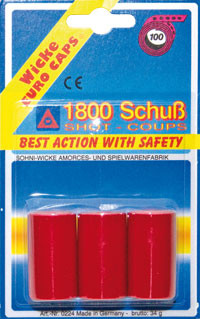 Munition 1800 Schuss - Knallstreifen