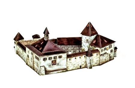 Modellbogen - Kyburg