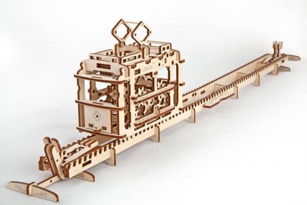 Ugears - mechanischer Holzbausatz - Tram