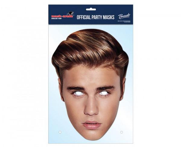 Justin Bieber Maske aus Karton