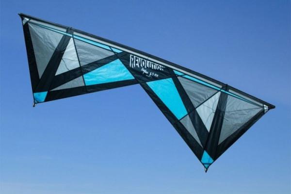 Revolution Kite Reflex RX Hellblau, 4 Leinen Profi-Lenkdrachen (Kite only)