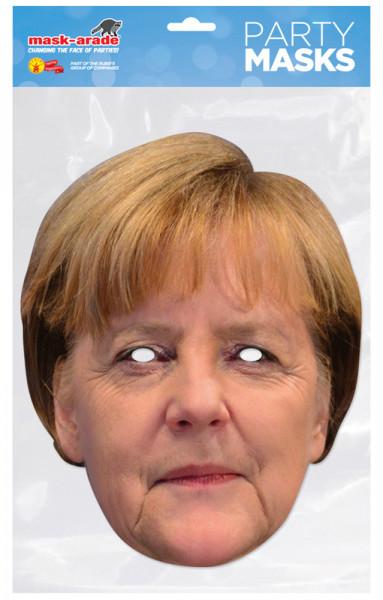 Angela Merkel Maske - geschlossener Mund