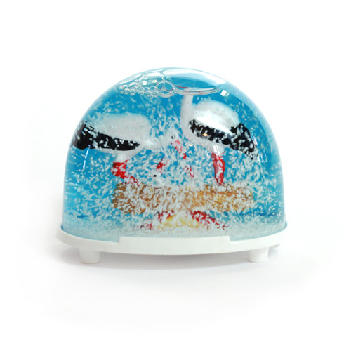 Schneekugel classic 3D - Störche