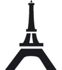 Ministempel Wahrzeichen Eifelturm