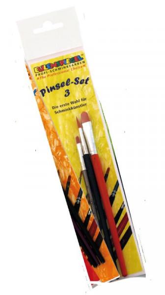 Schmink-Pinsel-Set 3 mit 3 Pinseln