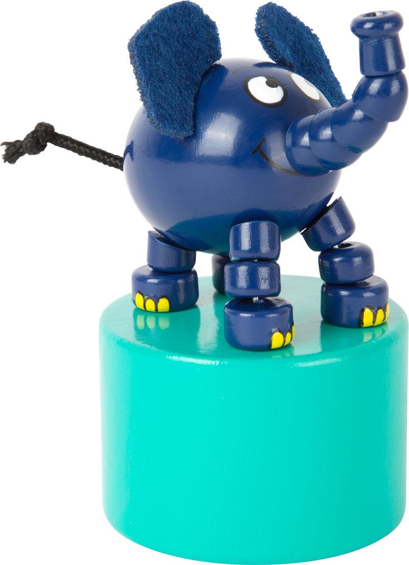 dr ckfigur blauer elefant aus holz die sendung mit der. Black Bedroom Furniture Sets. Home Design Ideas